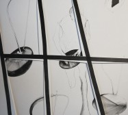Stage 2 | Tusche auf Papier, Cutouts | 70 x 50 cm