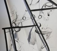 Stage 1 | Tusche auf Papier, Cutouts | 70 x 50 cm