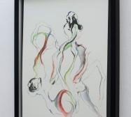 Creatures 2 | Aquarell | 50 x 40 cm | 2020 | Foto: zeegaro