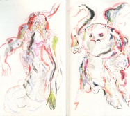 O.T. | Aquarell, Artist Book | 21 x 25 cm | 2019/2020