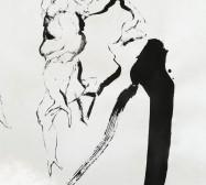 Mutares | Tusche auf Papier, Paperclay | 2000 x 145 cm | Detail | 2019/2020 | Foto: zeegaro