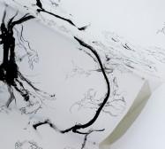 Mutares | Tusche auf Papier, Paperclay | 2000 x 145 cm | Installation | Weltraum | 2020