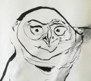 Wächter 1, Detail | Tusche auf Papier |145 x 100 cm | 2020