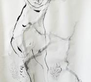 Wächter 1 | Tusche auf Papier |145 x 100 cm | 2020