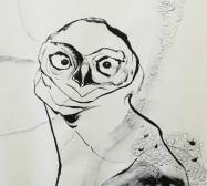 Wächter 2, Detail | Tusche auf Papier |145 x 100 cm | 2020