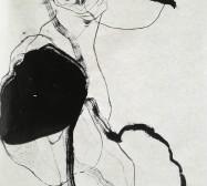 Wächter 2 | Tusche auf Papier |145 x 100 cm | 2020