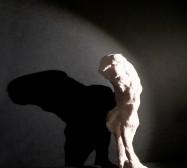 Wesen, Eule 1| Paperclay | ca. 20 x 8 x 8 cm | 2019
