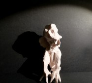 Wesen, Eule 2| Paperclay | ca. 20 x 8 x 8 cm | 2019/2020
