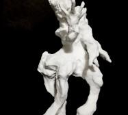 Wesen, Kentauren| Paperclay | ca. 23 x 15 x 8 cm | 2020