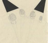 The other Hand | Hände 1 |Tusche auf Papier | 42 x 31 cm | 2019