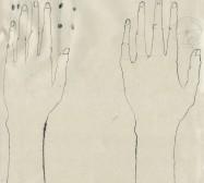 The other Hand | Hände 2 |Tusche auf Papier | 42 x 31 cm | 2019