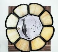 Flower | Tusche auf Papier, Cutouts, Holz, Messing, Plexiglas, Objet trouvé | ca. 30 x 30 x 25 cm