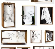Dioramen | Tusche auf Papier, Cutouts, Holz, Glas | Auswahl 2010 - 2020