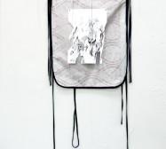 Two Sides 3 | Tusche auf Papier, Cutouts, Stoff | ca. 150 x 60 cm