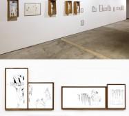 Installationsansicht Dioramen und Zeichnungen | Schafhof Freising | 2009