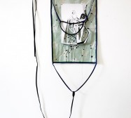 Two Sides 6| Tusche auf Papier, Cutouts, Stoff | ca. 200 x 60 cm