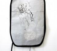 Two Sides 7| Tusche auf Papier, Cutouts, Stoff | ca. 70 x 40 cm