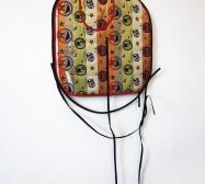 Two Sides 8| Tusche auf Papier, Cutouts, Stoff | ca. 120 x 60 cm