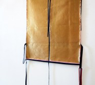 Two Sides 10| Tusche auf Papier, Cutouts, Stoff | ca. 150 x 80 cm