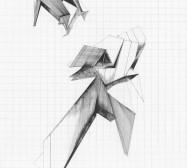 Grids 13 | Tusche und Bleistift auf Papier | 42 x 28 cm