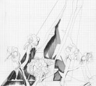 Grids 15 | Tusche und Bleistift auf Papier | 42 x 28 cm