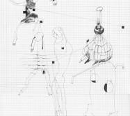 Grids 1 | Tusche und Bleistift auf Papier | 42 x 28 cm